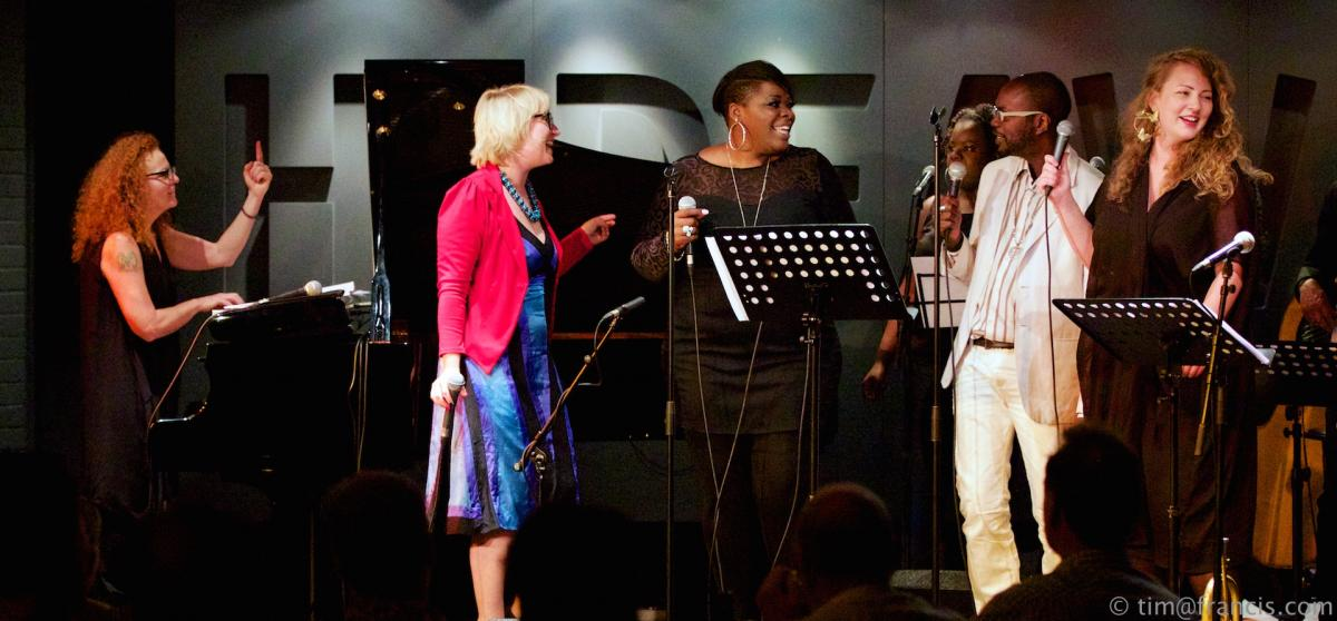 Janette Mason Gwyneth Herbert David MCAlmont Emilia Matrensson LaDonna Harley Peters and band at D'Ranged CD luanch Hideaway Aug 1st 2014